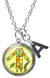 "My Altar Gran BWA Healing Love Nature Voodoo and Initial Charm Steel 24"" Necklace"