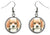 Beagle Dog Silver Hypoallergenic Stainless Steel Earrings
