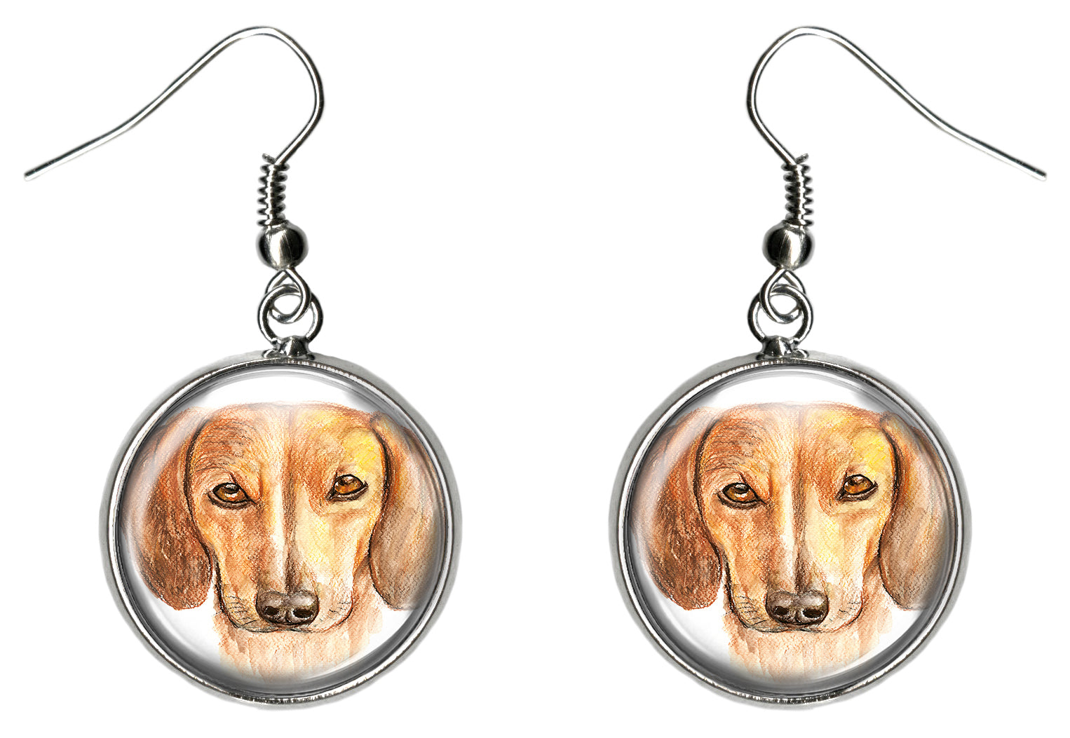 Dachshund Dog Silver Hypoallergenic Stainless Steel Earrings