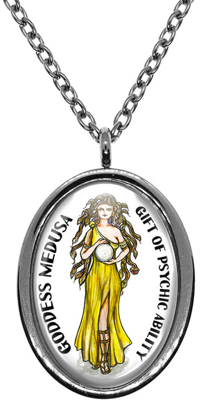 My Altar Goddess Medusa Gift of Psychic Ability Stainless Steel Pendant Necklace