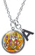 "My Altar Brahma The Creator Manifestation Pendant & Initial Charm Steel 24"" Necklace"