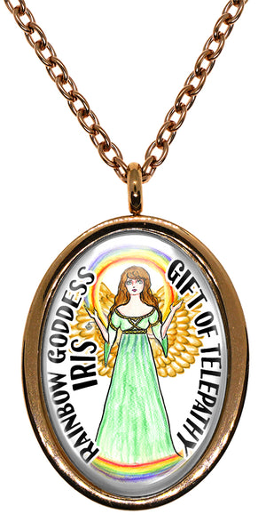 My Altar Rainbow Goddess Iris Gift of Telepathy Stainless Steel Pendant Necklace