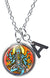 "My Altar Goddess Kali Loving Mother Fierce Warrior & Initial Charm Steel 24"" Necklace"