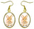 "Bunny Rabbit 1"" Gold Hypoallergenic Steel Earrings"