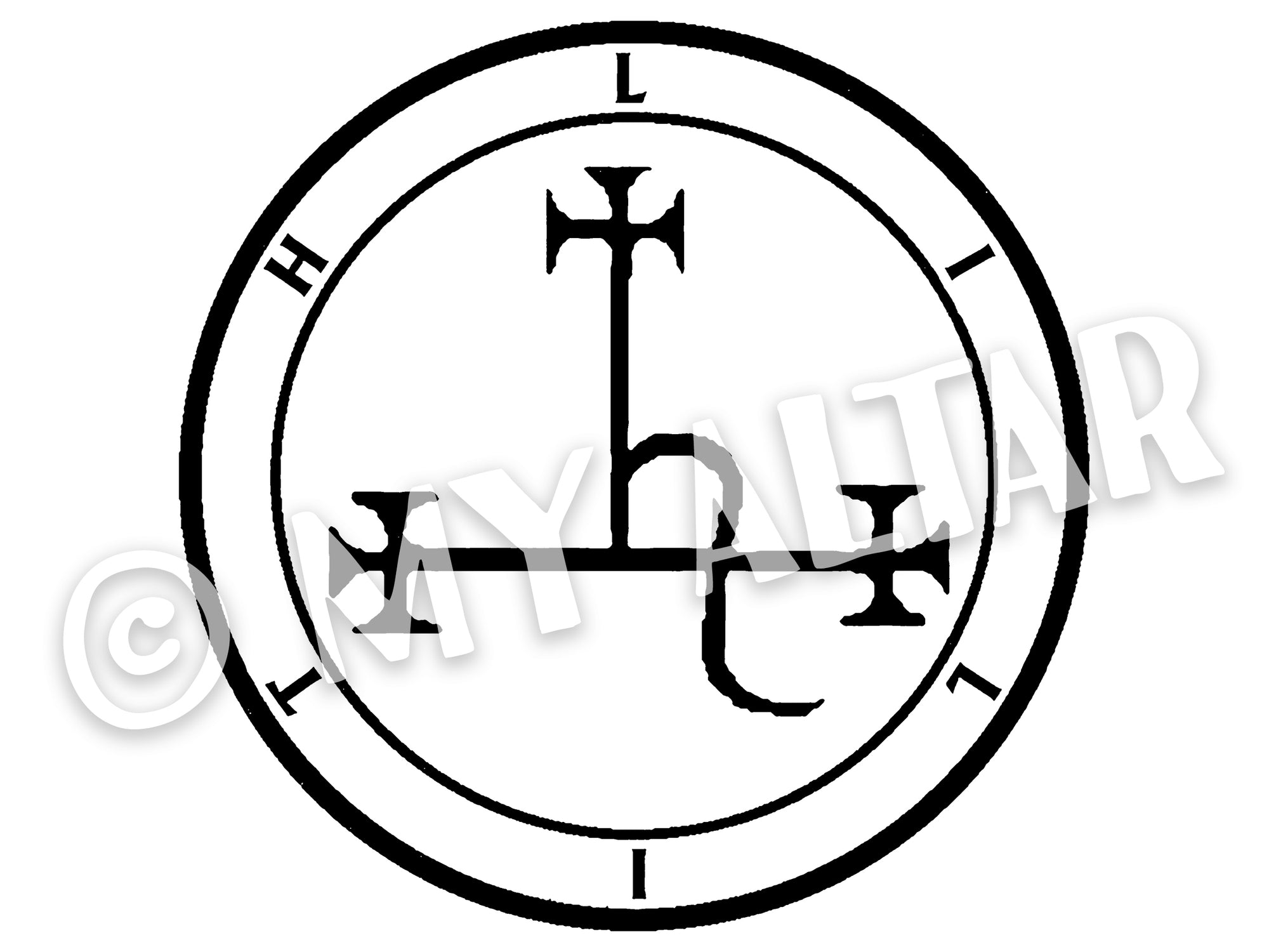 "Set of 2 Large 5"" Lilith Invocation Sigil Waterproof Temporary Tattoos"