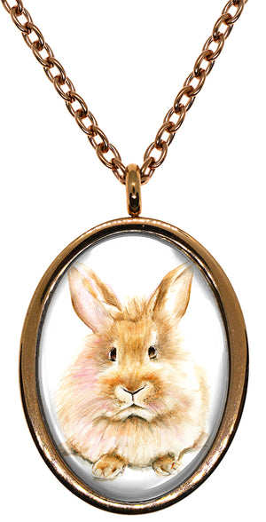 My Altar Bunny Rabbit Stainless Steel Pendant Necklace