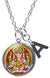 "My Altar Lord Ganesh for Karma Pendant and Initial Charm Stainless Steel 24"" Necklace"