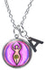 "My Altar Spiral Goddess Pendant & Initial Charm Steel 24"" Necklace"