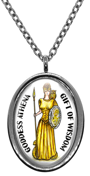 My Altar Goddess Athena Gift of Wisdom Stainless Steel Pendant Necklace