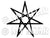 "Set of 2 Large Black 5"" Fairy Faith Elven Star Wiccan Heptagram Pentacale Pentagram Invocation Sigil Waterproof Temporary Tattoos"