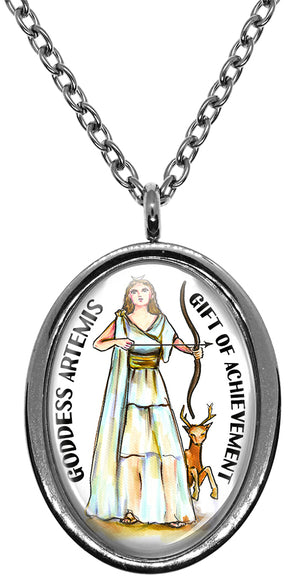 My Altar Goddess Artemis Gift of Achievement Stainless Steel Pendant Necklace