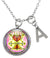 "My Altar Maman Brigitte Spirit Blessings Magic Voodoo & Initial Charm Steel 24"" Necklace"