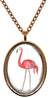 My Altar Pink Flamingo Stainless Steel Pendant Necklace