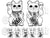 "Set of 2 Large Black 5"" FLucky Cat Maneki Neko Left and Right Paw for Home, Business, Career Wealth and Success Sigil Waterproof Temporary Tattoos"