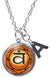 "My Altar Svadisthana 2nd Chakra Orange Vitality & Initial Charm Steel 24"" Necklace"