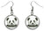 Panda Bear Silver Hypoallergenic Stainless Steel Earrings