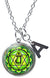 "My Altar Anahata 4th Chakra Green Heart Pendant & Initial Charm Steel 24"" Necklace"