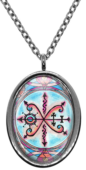 My Altar Sekhelo Lwa Voodoo Veve Magick Stainless Steel Pendant Necklace
