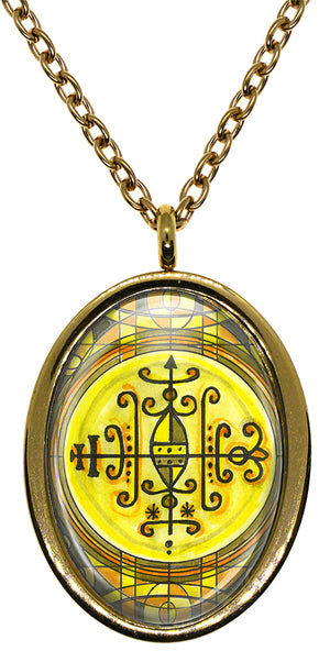 My Altar Tonthomba Lwa Voodoo Veve Magick Stainless Steel Pendant Necklace