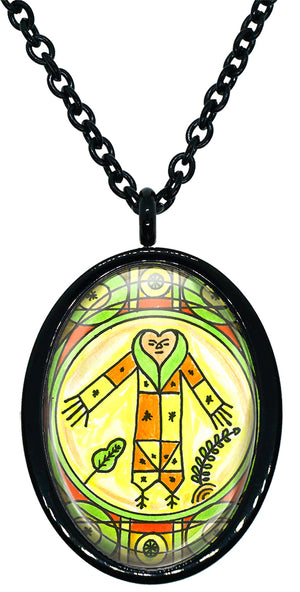 My Altar Gran BWA Veve for Voodoo Magick Healing, Pets, Nature Stainless Steel Pendant Necklace