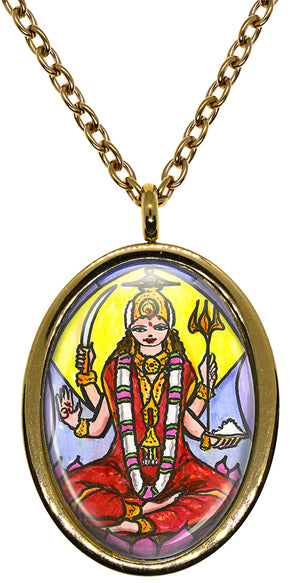 My Altar Goddess Parvati Mother of Ganesh for Love & Devotion Stainless Steel Pendant Necklace