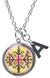 "My Altar Papa Legba Gatekeeper Magic Voodoo & Initial Charm Steel 24"" Necklace"