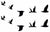 Flying Birds Black Waterproof Temporary Tattoos 2 Sheets