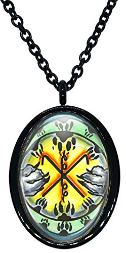 My Altar Animal Reiki Rama Symbol for Steadfast Determination Stainless Steel Pendant Necklace
