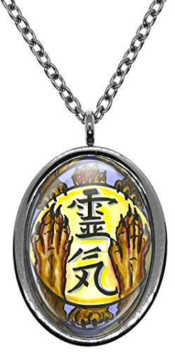 My Altar Distance Animal Reiki Hon Sha Ze Sho NEN Stainless Steel Pendant Necklace