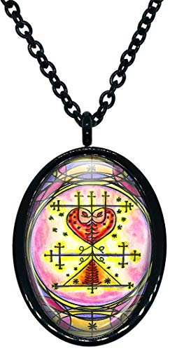 My Altar Maman Brigitte Veve Voodoo Magick for Spirit World Connections Stainless Steel Pendant Necklace