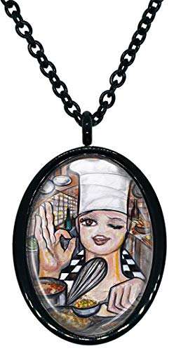 My Altar Whimsical Chef in The Kitchen Stainless Steel Pendant Necklace
