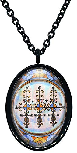 My Altar Marassa Twins Veve Voodoo Magick for Blessings, Family & Abundance Stainless Steel Pendant Necklace