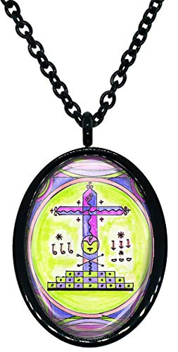 My Altar Papa Ghede for Crossing Over, Death, Fertility Voodoo Veve Magick Stainless Steel Pendant Necklace