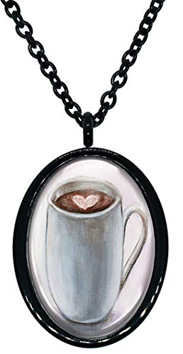 My Altar Cup of Mocha Cocoa Stainless Steel Pendant Necklace