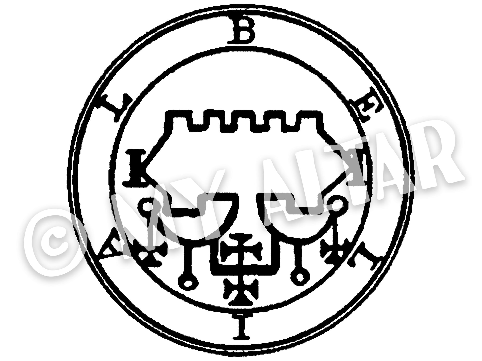 "Set of 2 Large 5"" Belial 68th Lesser Seal Goetia Solomon Invocation Sigil Waterproof Temporary Tattoos"