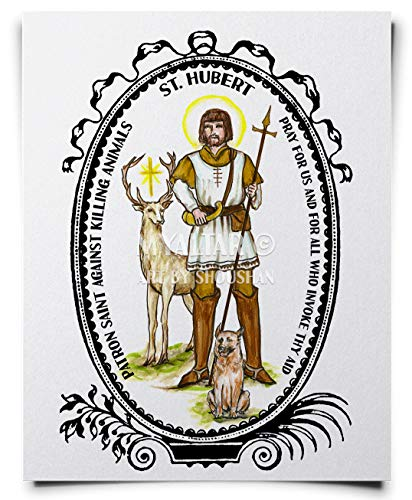 My Altar Saint Hubert Patron Against Killing Animals Art Print