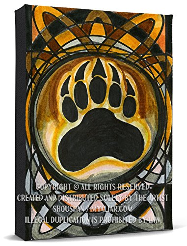 Bear Claw Paw Print Gallery Wrapped Canvas