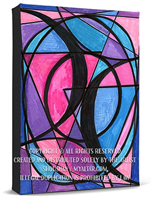 Bisexual Love Print Gallery Wrapped Canvas