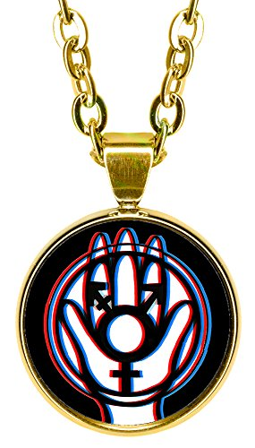 "Transgender Protection Hamsa 5/8"" Mini Stainless Steel Gold Pendant Necklace"