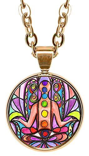 "Chakra Hamsa 5/8"" Mini Stainless Steel Rose Gold Pendant Necklace"