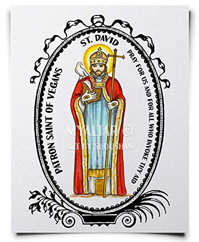 My Altar Saint David Patron of Vegans Art Print