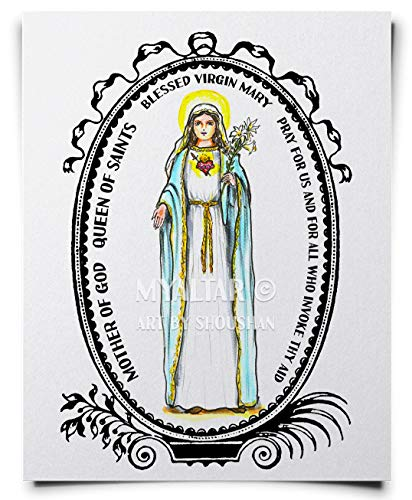 Blessed Virgin Mary Mother of God Queen of Saints Art Print