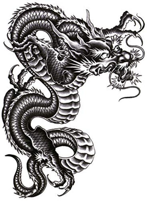 "Ancient Dragon Large 5 1/2"" x 7 1/2"" Temporary Tattoos 2 Sheets"