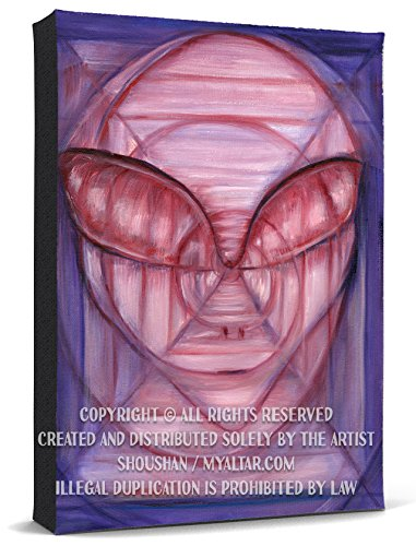 Supernatural Alien Angel Guardian Messenger Print Gallery Wrapped Canvas