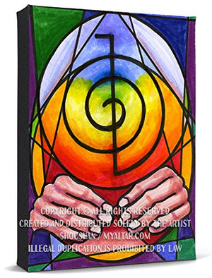Choku Rei Reiki Healing Hands Activator Print Gallery Wrapped Canvas