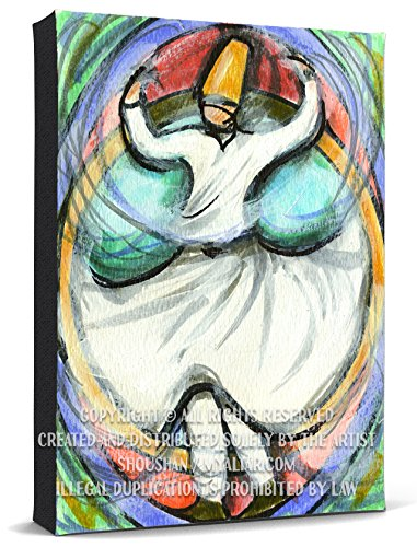 My Altar Rumi Sufi Whirling Dervish Print Gallery Wrapped Canvas