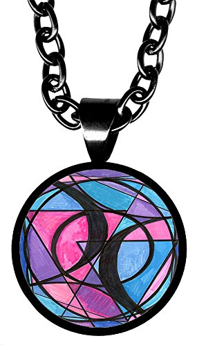 "Bisexual Love 5/8"" Mini Stainless Steel Pendant Necklace"