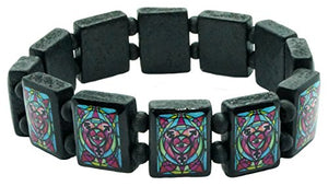 My Altar Transgender Love Black Wood Stretch Bracelet