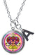 "My Altar Erzulie Freda Love Magic Miracles Voodoo & Initial Charm Steel 24"" Necklace"
