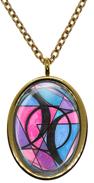 My Altar Bisexual Love Symbol LGBT Stainless Steel Pendant Necklace